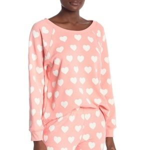 Wildfox love sommers sweater crew neck pink L
